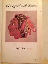 Authentic Chicago Blackhawks 1965-1966 YearBook