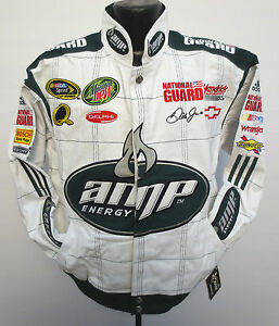 DALE EARNHARDT JR AMP ENERGY DRINK COTTON TWILL JACKET CHASE AUTHENITCS NASCAR