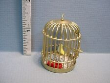 Dollhouse Miniature Hanging Bird Cage  Bird & Seed - #L13 All Through the House