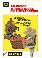 Publicité ancienne allumage bobine Marchal issue de magazine