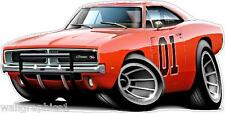 General Lee Charger R/T XL 4ft Long Wall Graphic Decal Sticker Poster Cling
