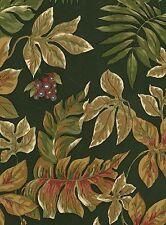 Wallpaper Art & Crafts Green Background Monkey & Leaves