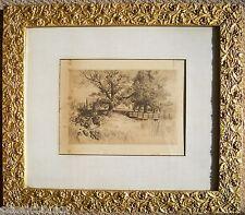 1890's Engraving with Original Frame