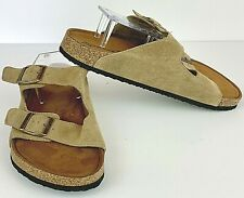Alpine Design Sandal Mens 11 M Slide Buckle Memory Foam Casual Tan Suede Leather