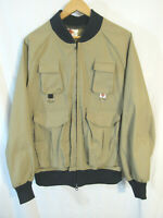 Vintage Columbia Men's Poly / Cotton Fly Fishing Bomber Style Jacket Size XL