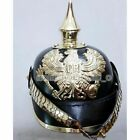 Wearable WWI Kingdom Of Bawaria German Leather Pickelhaube Helmet Without Stand
