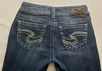 Silver Jeans Suki Womens Blue Denim Size 27 x 30 Boot Cut Med Wash Mid Rise EUC