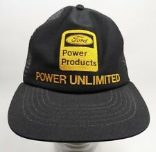 Vintage Ford Power Products Power Unlimited Snapback Trucker Hat Foam Mesh USA