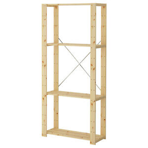 IKEA Pine Softwood Shelf Sideboard Cabinet Wall Unit 78x31x171 CM Partition
