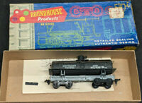 ROUNDHOUSE: SOUTHERN PACIFIC #4555 OLD-TIMER TANK CAR. VINTAGE HO, BLACK, METAL