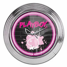 Licensed Playboy Bunny Large Neon Wall Clock - 38cm Diameter