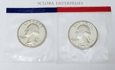 1989 P & D Washington Quarter Coin Set (2 Coins) *MINT CELLO* *FREE SHIP*