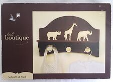 Safari Nursery Wall Shelf Elephant Giraffe Little Boutique Decor