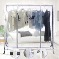 Waterproof Dustproof Transparent Clothing Garment Rack Cover Rail storage new