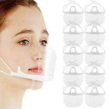 10 PACK Face Shield Guard Mask Safety Protection With Glasses Reusable