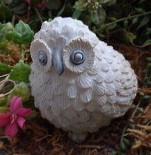 "Latex owl mold plaster concrete mold 3.5"" x 3.5"" x 3"" reusable"
