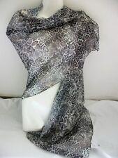 Ein Hauch von Tuch Schal Leo Leoparden grau braun edel zart Neu