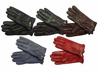 SOFT AND SUPPLE LADIES QUALITY BLACK LEATHER GLOVES WITH METAL ZIP