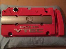 Prelude H22 Red Honda PRELUDE VALVE COVER ENGINE DOHC H22A VTEC OEM JDM