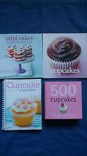 Cookbook Bulk Lot 500 CUPCAKES Fergal Connolly MINI CAKES Hannah Miles + 2 MORE