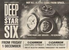 2/12/89Pgn26 Advert: On Screens Sean S. Cunningham's 'deep Star Six' 7x11