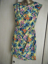 Ladies,size 10.Yellow,green,pink,orange floral,sleeveless dress.New