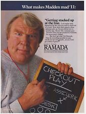 Original 1987 Ramada Hotels w/John Madden Print Ad Vintage