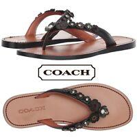 COACH Tea Rose Thong Sandals Women's Casual Summer Comfort