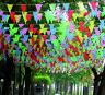 ca.10m Bunt Flagge Wimpelkette Wimpelgirlande Girlande Party Geburtstag Deko