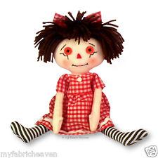 "Sarah 10"" Rag Doll Craft Sewing PATTERN & Easy Instructions Cute Original Design"