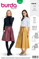 Burda Sewing Pattern 6375 Wrap Skirts Tie Waist Pockets 10-20 Paperbag Ruffled