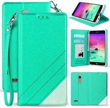 Infolio Wallet Case Wrist Strap for LG K30, Phoenix Plus, Premier Pro, Harmony 2