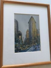 New York City Cityscape Mounted & Framed Lithograph Print