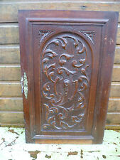AN ANTIQUE FRENCH,  FLORAL PATTERNED, CARVED WOODEN WALL HANGING, WALL PLAQUE