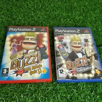 Buzz! Bundle: Hollywood Quiz & Music Quiz Game PS2 - Playstation 2 - Complete