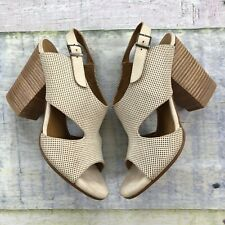 Coclico Anthropologie Cutout Chunky Heel Shoes Size 39 Made In Spain Sandals