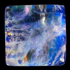7.22 cts Huge Natural Square-Cabochon Transparent Blue-flashing Moonstone