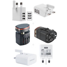Multi USB Port Power AC Travel Wall Charger Adapter UK Plug Mobiles Fits All Lot