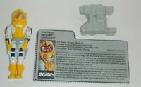 1989 GI Joe Payload v2 Avenger Scout Pilot Figure w/ File Card *Near Complete