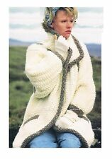 "Knitting Pattern Ladies Jacket/Coat Super Chunky COPY PATTERN ONLY 30-40"" >em38"