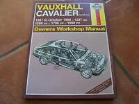 HAYNES OWNERS WORKSHOP MANUAL 812 VAUXHALL CAVALIER PETROL 1981 TO 1988