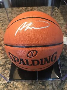 Andre Drummond Signed Spalding NBA Basketball COA autograph CASE INCLUDED