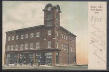 Postcard PORT DOVER Ontario/CANADA  Town Hall & H.B. Barrett Store view 1907