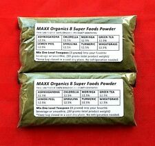 MAXX Organics 8 Super Foods Powder 60 Day + FREE Diatomaceous Earth ck. Organifi