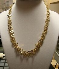 """NEW 17"""" Gold Necklace w Matching Dangle Earrings 14k Yellow"""