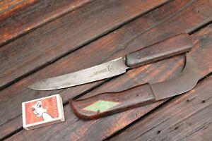 Vintage Antique Knife T Williams London Cambridge Tools Hook Leather Blade Sword