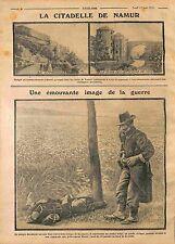 Bombardement Citadelle de Namur tour au four/Garde Civique de Belgique WWI 1914