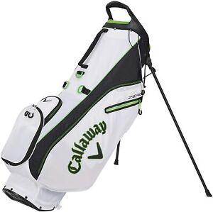 New Callaway Golf 2021 EPIC Hyper Lite Zero Stand Bag COLOR: White/Black/Green
