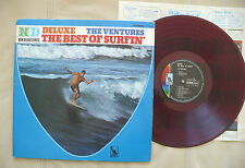 "THE VENTURES ""THE BEST OF SURFIN"" RED VINYL JAPAN GATEFOLD LIBERTY LP-8441 SURF"
