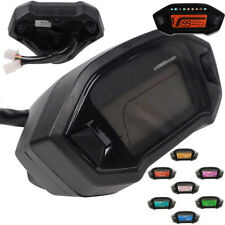 12V 14000RPM Digital Motorcycle Gauges Speedo Tachometer Odo Indicator Km/h MPH